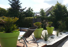 Aménagement d'un jardin à thème autour d'une piscine